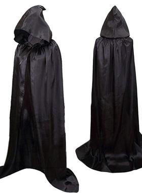 男女通用万圣节cos服饰斗篷女巫魔王披风吸血鬼披肩尖尖的帽子
