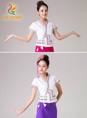 西双版纳傣服装 傣族泼水节服饰 泰国裹裙筒裙女套装单上衣单裙子
