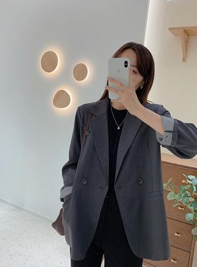 现货 IMFLY陈儒兵服饰韩剧欧尼 ~西装外套女设计感小众后开叉西服