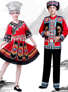 新款云南少数民族服装苗族演出服土家族瑶族彝族舞蹈服饰壮族男女