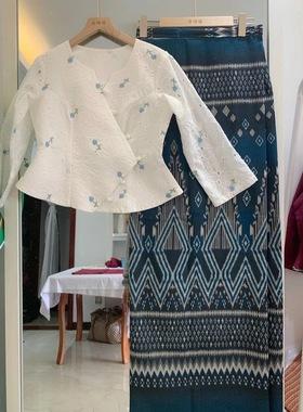 西双版纳傣族傣服饰筒裙套装西双版纳泼水节漂亮傣装日常装