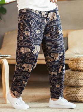 泰国大象裤子男泰式缅甸服饰柬埔寨东南亚西双版纳傣族服装风情裤