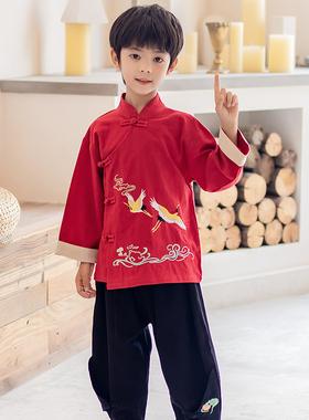 儿童汉服唐装2021新款中国风改良中小童古装宝宝传统服饰国学服潮