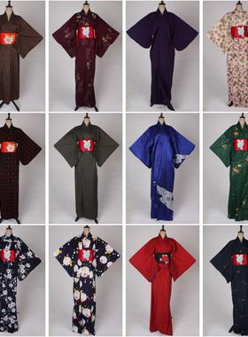 vintage古着日本制节日演出表演写真长款和服传统民族服饰X117