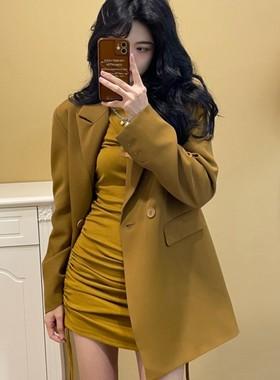 酒服饰酒工厂店JIUJIU西装外套女士秋冬季休闲时尚设计感炸街外衣