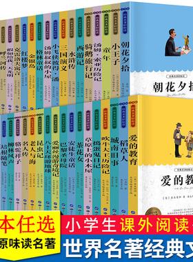 青少年名著阅读 老人与海城南旧事简爱四五六年级课外书小学生课外阅读无注音书籍三年级经典书目小学生课外读物