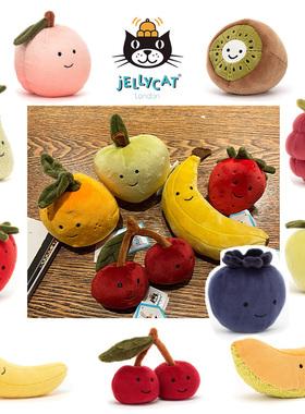 水果!Jellycat 草莓香蕉 樱桃橘子猕猴桃覆盆子桃子蓝莓毛绒玩具