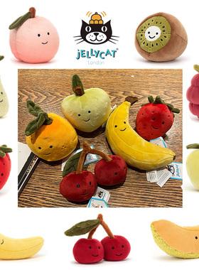 水果!Jellycat 草莓香蕉 樱桃 橘子 猕猴桃 覆盆子 桃子毛绒玩具
