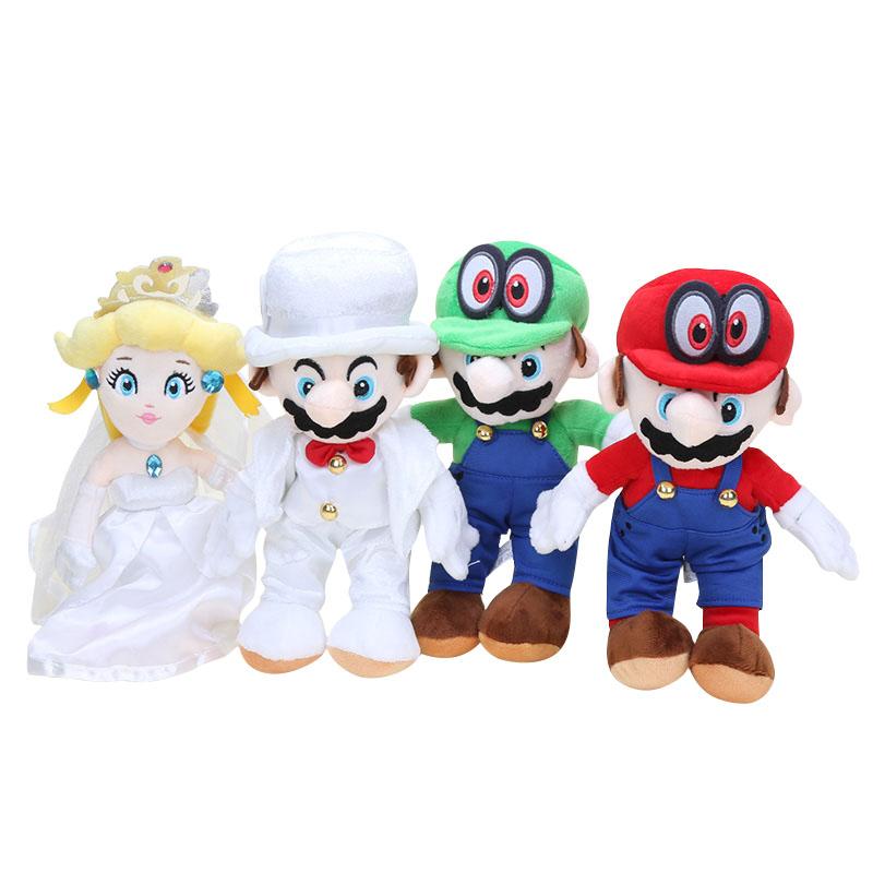 马里奥路易礼服cos名侦探桃子公主毛绒玩具公仔超级玛丽兄弟玩偶