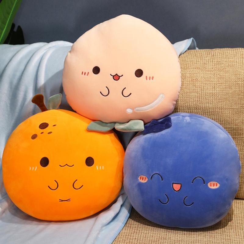 橙子抱枕被子两用四季通用桃子公仔毛绒玩具布偶水果布娃娃女可爱