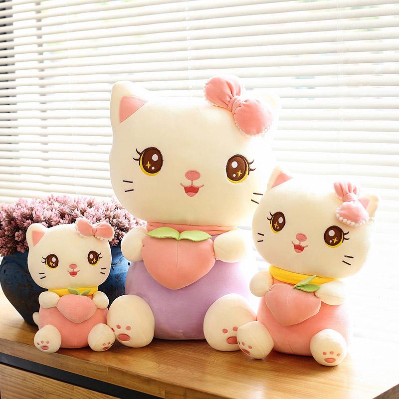 可爱小猫咪毛绒玩具公仔网红桃子猫猫儿童布娃娃女孩床上睡觉礼物