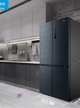 美的509大容量超大智能家电冰箱四开门无霜家用双开门十字对开4门
