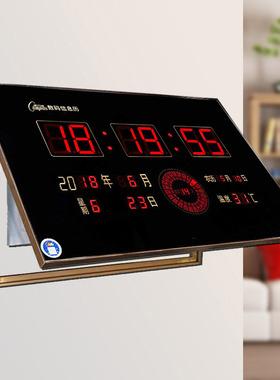 数码万年历电表箱电闸遮挡装饰配电箱客厅新款液压电子钟来图定做