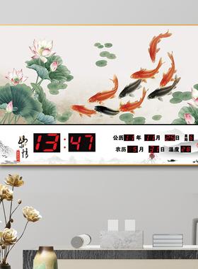 康巴丝万年历电子钟2021年新款挂墙数码时尚小挂钟表客厅家用挂钟