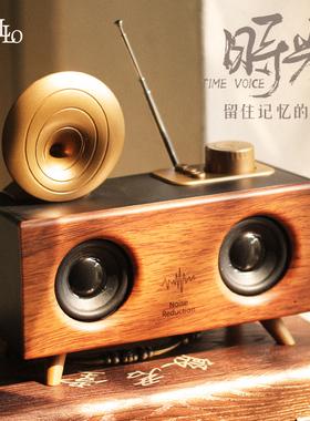 Music Apollo B6无线蓝牙音箱低音炮超大音量便携式户外收音机手机电脑插卡U盘3D环绕车载高音质复古小音响