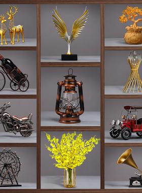 客厅酒柜装饰品摆件家居饰品现代简约红酒架创意办公室工艺品摆设