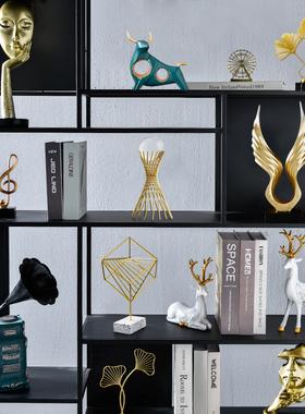 北欧轻奢现代玄关客厅电视柜酒柜办公室创意家居饰品装饰高档摆件