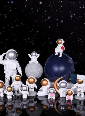玄关放钥匙收纳摆件宇航员家居客厅电视红酒柜桌面装饰品新婚礼物