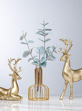 招财鹿摆件家居装饰品创意客厅电视酒柜玄关小北欧轻奢现代工艺品