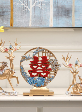 创意实用鹿摆件客厅电视柜家居装饰品乔迁新居礼品结婚礼物送新人