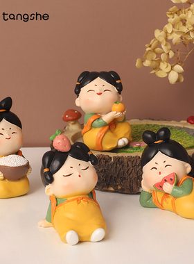 古风唐仕女小摆件可爱少女心家居装饰品创意中式玩偶礼物桌面摆设