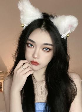 毛绒可爱猫咪猫耳朵发箍狐狸头箍头饰女兽耳发夹猫咪发卡发饰品潮