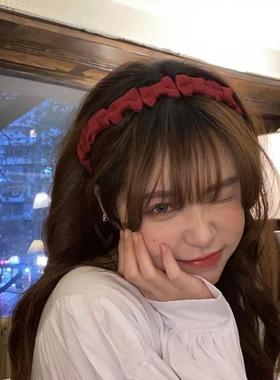 甜味!少女糖果色蝴蝶结发箍小众设计头箍ins复古甜美发卡发饰品
