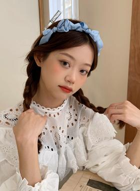 法式少女甜美蝴蝶结发箍温柔气质头箍日韩网红发卡百搭发饰头饰品