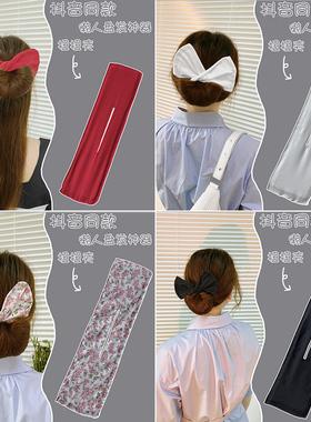 韩式丸子头懒人盘发神器2021年新款魔术扭扭夹蝴蝶结花苞头发饰品