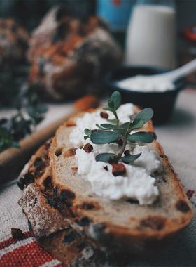 juicy bakery朗姆酒提子低糖低脂低油健康硬饱腹欧包早餐代餐