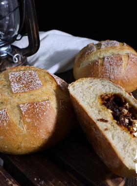 清晨里 牛肉叉烧面包粗粮港式软欧包早餐无蔗糖健康低g卡代餐面包