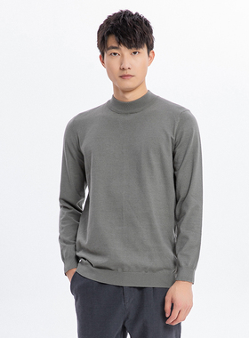 NOME诺米男装毛织T恤纯色上衣男毛衣打底衫M4C1B39B0001