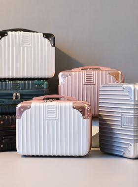 手提迷你行李箱小型轻便密码化妆箱14寸子母包可挂大箱收纳包16寸