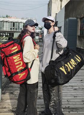 大容量旅行包男行李背包超大双肩旅行袋可套拉杆箱干湿分离健身包