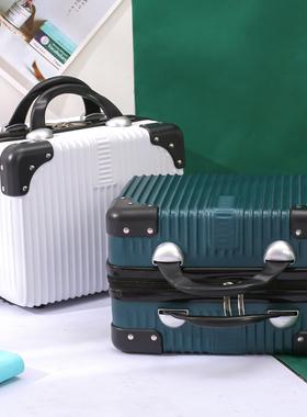 新款14寸手提化妆箱女复古小行李箱便捷化妆品收纳箱包防水洗漱包