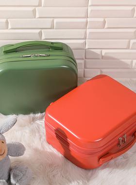 手提行李箱14寸女小型旅行皮箱迷你登机化妆包12寸收纳子母小箱子