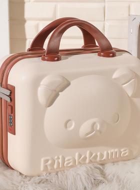 手提行李箱化妆小箱子包14寸卡通可爱动漫密码箱轻便迷你收纳箱女