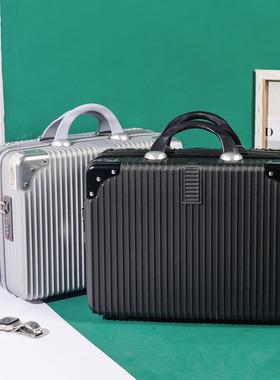 新款复古手提箱16寸带密码锁皮箱轻便小型登机行李箱14寸化妆包女