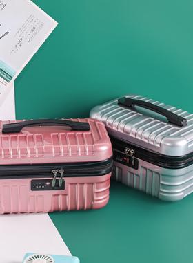 韩版16寸手提行李箱化妆包小箱子14寸密码箱轻便迷你收纳箱女皮箱
