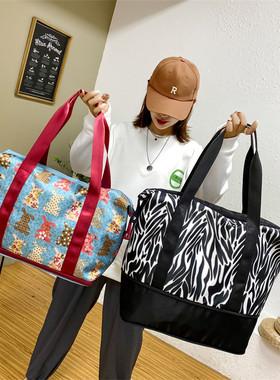 可扩展超大容量旅行包手提短途旅行袋可套拉杆箱女待产收纳健身包
