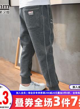 小象汉姆童装男童运动裤儿童春秋装长裤子2021秋装新款中大童潮