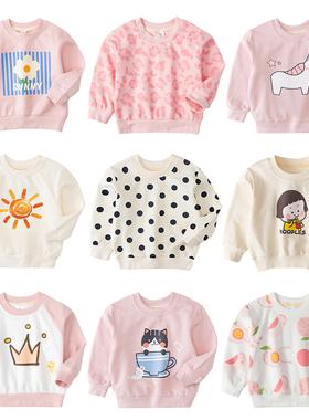 女童洋气卫衣2021新款韩版童装儿童男宝宝婴幼儿1岁3上衣春秋小童