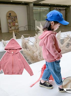 女童外套加绒2021秋装新款洋气韩版童装冬装儿童网红宝宝春秋上衣