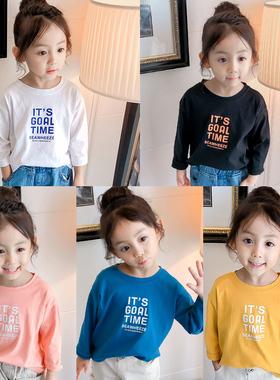 女宝宝秋装儿童装打底衫小童韩版3上衣0一1岁2春秋4女童长袖T恤潮
