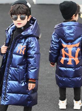 男童冬装棉服2020年新款洋气中大儿童装羽绒棉衣外套中长款棉袄潮