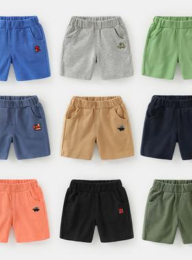 男童纯棉短裤夏装夏季童装1岁3小童宝宝儿童中裤子潮婴儿外穿薄款