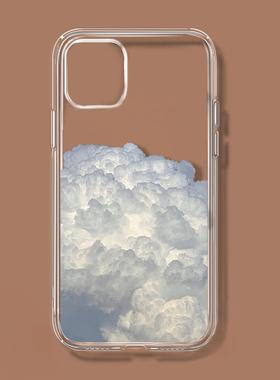 简约云朵适用苹果13/12华为p50小米11OPPO荣耀vivox60一加9手机壳