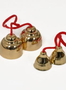奥尔夫打击乐器纯铜碰铃 腕铃脚铃 儿童舞蹈手铃 表演演出摇铃