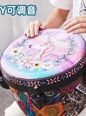 前谷非洲鼓标准10/12寸成人初学者手拍鼓小学生便携专业打击乐器