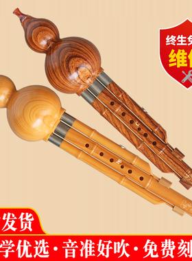 新款傣艺初学者入门成人儿童小学生乐器树脂胶木葫芦丝C调降B调
